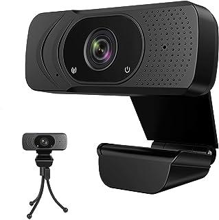 ウェブカメラ AEOEOフルHD1080P 200万画素 30fps Webカメラ ステレオマイク内蔵 ノイズ対策 高画質パソコンカメラ USB接続だけすぐ使用可 三脚取付可能 2000/Mac OS X/Android TV対応 1年間メーカ...