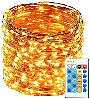 HaMi 66ft 200 LED String Lights,Waterproof String Lights Fairy Lights with UL Certified, Decorative Copper Wire Lights for Bedroom,Patio,Wedding,Party - Warm White