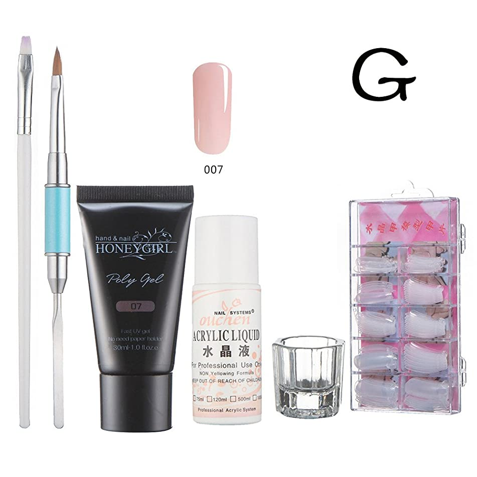 JYS Nail Gel Extension Set - Gel Nail Enhancement Builder Gel Nail Extension Nail Gel Trial Set for Starter and Professional Nail Technician All-in-One Kit