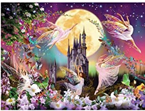 Paint by Numbers DIY Painting Acrylic Castle Elf for Adult Home Wall Living Room Bedroom Decoration