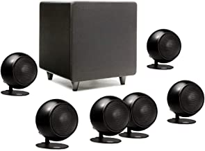 Orb Audio: Mod1 Mini 5.1 Plus Home Theater Speaker System - Surround Sound System - Includes 6 Orbs and 9'' Subwoofer - Dialogue Enhancing Center Channel - Handmade in the US