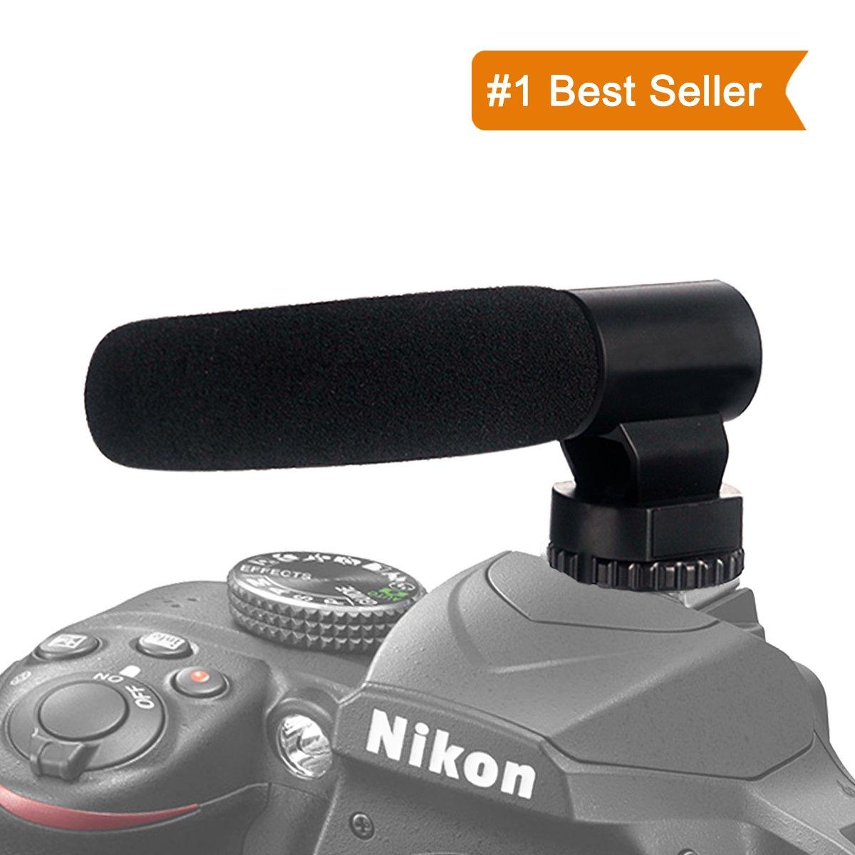 ATNY ATM-909ライトショットガンビデオNikon / Canaonカメラ/ DVビデオカメラ、プロフェッショナルビデオ、写真撮影、写真撮影、3.5mmコネクタとのインタビューのためのマイク