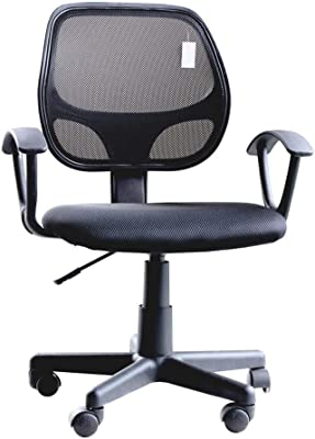 IDS Online MLM-18508 Mid Back Task Desk Executive Swivel Comfort Office Chairs, Black