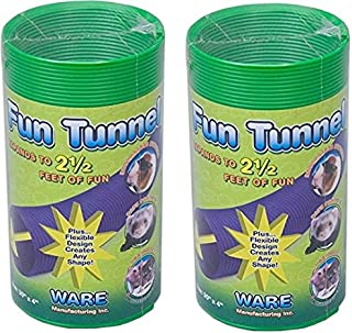Ware Manufacturing (2 Pack) Fun Tunnels Play Tube for Small Pets, 30 X 4 Inches Each - Size Medium