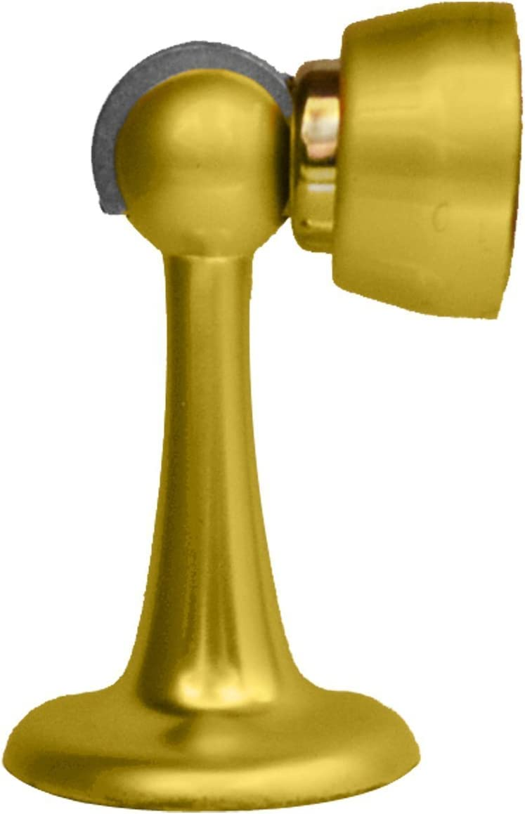 2 Pack Columbus Mall Magnetic Door Same day shipping Stop Satin Stopper wit -- Inch Brass 3