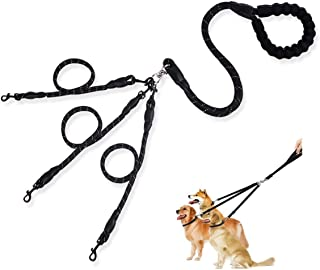 MEW 3 in 1 Dog Leashes, with Adjustable Detachable Coupler and Soft Padded Handle, Durable Nylon Safe Multiple Pet Lead