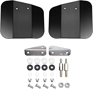 PBYMT Black Pair Wing Windshield Deflector Mirror Mount Compatible for Honda F6B GL1800 2002-2017