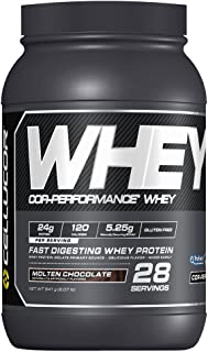 Cellucor Whey Protein Isolate & Concentrate Blend Powder with BCAAs, Post Workout Recovery Drink, Gluten Free Low Carb Low Fat, Molten Chocolate, 28 Servings