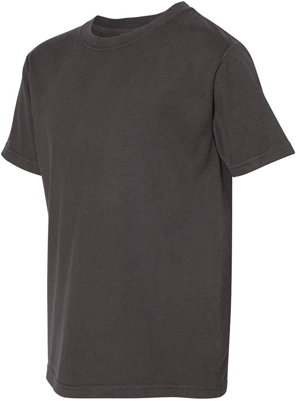 Hanes ComfortWash Garment Dyed Youth Short Sleeve T-Shirt - GDH175 - XL - New Railroad Grey