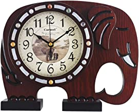 Desk Clock Indoor Decoration Clock Clock Bedroom Clock Quartz Clock Retro European Wooden Clock Living Room Silent Clock