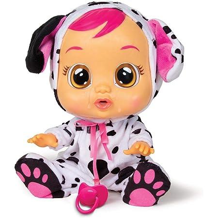 CRY BABIES Dotty Dalmata - Bambola interattiva che piange lacrime vere con ciuccio e Pigiama, per Bambini e Bambine dai 2 Anni