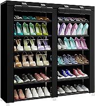 منظم احذية ام تي ال، بابين، رف احذية ثابت، منظم احذية (اسود)