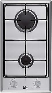 Plaque Gaz 2 feux-Beko HDCG32220FX - Plaque de cuisson Gaz - Dimensions produit (LxP en cm) : 29 / 51