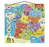 Le tour de France en 93 aimants ! Sur chaque aimant figurent le numéro et le nom du département, le chef-lieu et une illustration d'une spécialité locale. Sur le tableau magnétique sont indiqués, les régions, les grands fleuves, les massifs, les Mers...