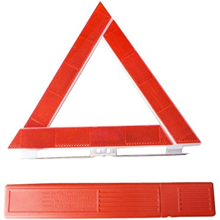 Smilemall 三角停止板 車載工具 緊急対応用品 折り畳み式 コンパクトに収納可能