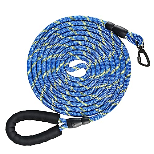 NTR Heavy Duty Dog Leash,15FT Long Rope Leash for Dog Training with Swivel...