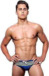 AceAcr Men's Swim Brief Bikini Shorts with Removeable Pad Swimwear
