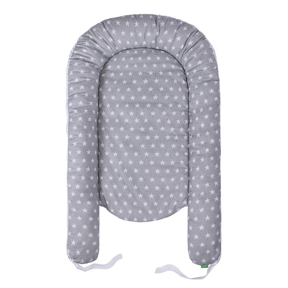 LULANDO Baby- Nest - Sleep Nest - Multifunctional Reversible Baby Cocoon, Farbe:White Stars/Dots Pink