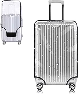 Yotako Clear PVC Suitcase Cover Protectors 20 24 28 30 Inch Luggage Cover for Wheeled Suitcase (30''(19.7''L x 13.4''W x 2...