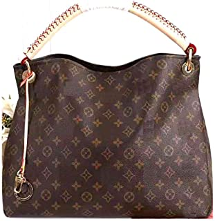 MARIA SCHROEDER Production Iconic Famous Spacious Hobo Bag Large Size 16 inches Brown Beautiful Color Amazing Canvas Material With Letters Logos Casual Travel Cosy Luggage Sport Fitness Shopping One