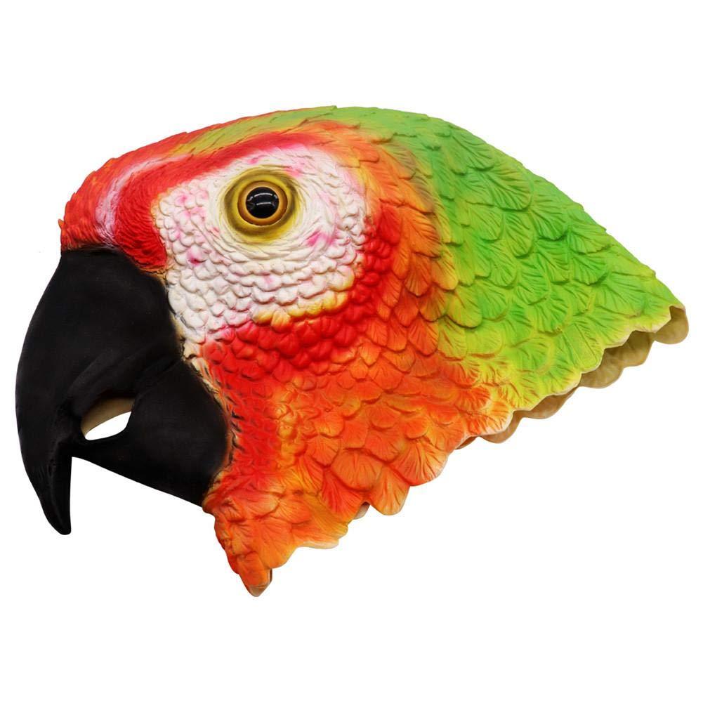 Hangarone Máscara de Loro máscara roja máscara de Loro Colorida ...