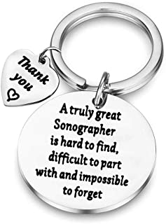 BAUNA Sonographer Gifts A Truly Great Sonographer is Hard to Find Sonographer Keychain Ultrasound Tech Gifts for Medical Sonographer Ultrasound Student