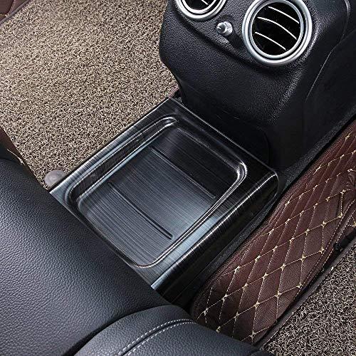 Compatible con la Clase E W213 2016 2017 2018 2019 304 Cubierta de protección de la fila trasera Recorte Parte del automóvil Acero inoxidable Cepillado Anti-Kick Moldura interior Negro brillante