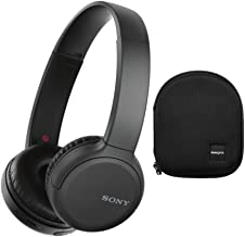 Sony WH-CH510 Wireless On-Ear Headphones, Black (WHCH510/B) with Knox Gear Hard-Shell Case Bundle (2 Items)