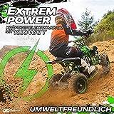 Actionbikes Motors Kinder Elektro Miniquad ATV Racer schwarz/blau - 4