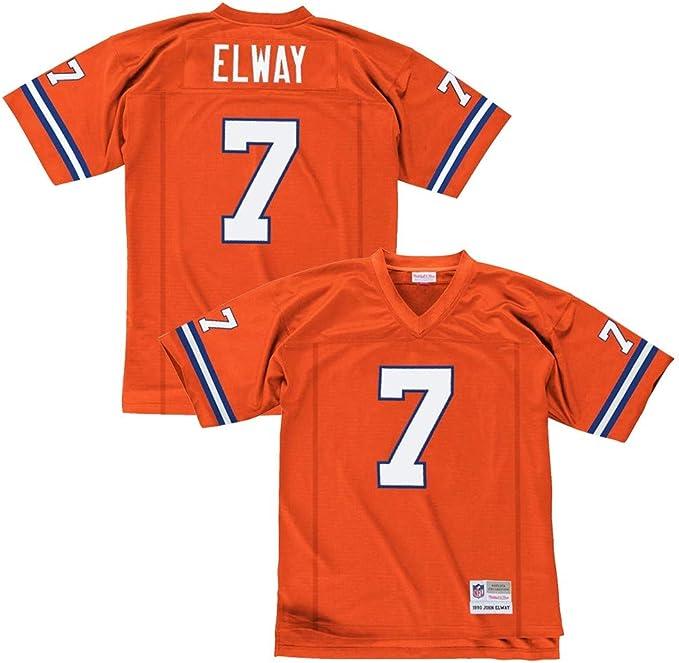 Mitchell & Ness John Elway Denver Broncos Orange Throwback Jersey