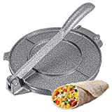 Máquina De Prensa De Tortilla-Antiadherente De 8, Pulgadas De Harina De Maíz Tortilla De Tortilla, Máquina Plegable De Aluminio De La Prensa De La Masa Del Maíz
