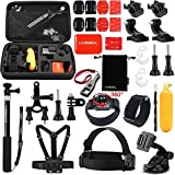 Luxebell 30-in-1 Accessori Kit per GoPro Hero 5 Session 4 3+ 3 2 Black Silver, Action Camera Accessori SJCAM SJ4000/SJ5000/SJ6000/DBPOWER/WiMiUS/XiaoMi Yi/TecTecTec