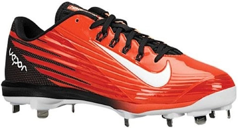 Nike Men's Lunar Vapor Pro orange Black Baseball Cleats 683895 810