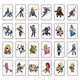 The Legend of Zelda: Breath of The Wild Amiibo Card Full Set of Linkage Cards Suitable for Switch Wilderness Amiibo Zelda Card (Big Card)