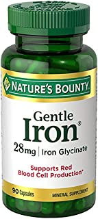 Nature's Bounty Gentle Iron 28 mg Capsules 90 Capsules (Pack of 2)
