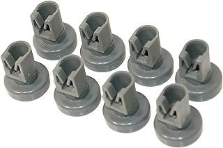 8 x Dishwasher Universal Upper Basket Wheels (for Electrolux, Zanussi, AEG, Favorit, Juno, Privileg, Fortschritt Quelle) - Class A +++ by DELIAWINTERFEL
