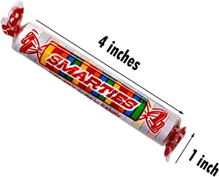 Giant Smarties Candy Rolls - 36 Individually Wrapped Candies in a Counter Top Box, 1 Ounce Each, 6 Assorted Flavors - Great for Events and Parties