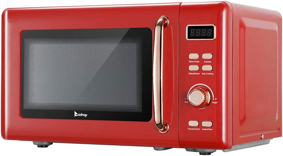 700W Selling and selling Retro Microwave With Display And Handle 0.7 Rose trend rank Cu. Golden