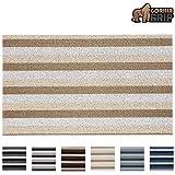 Gorilla Grip Premium Loop Doormat, 36x24, Soft Decorative Striped Scraper Door Mats, Durable Backing, Heavy Duty Tufted Bristles Mat for Indoor and Outdoor Entrance, Easy Clean, White Cream Beige
