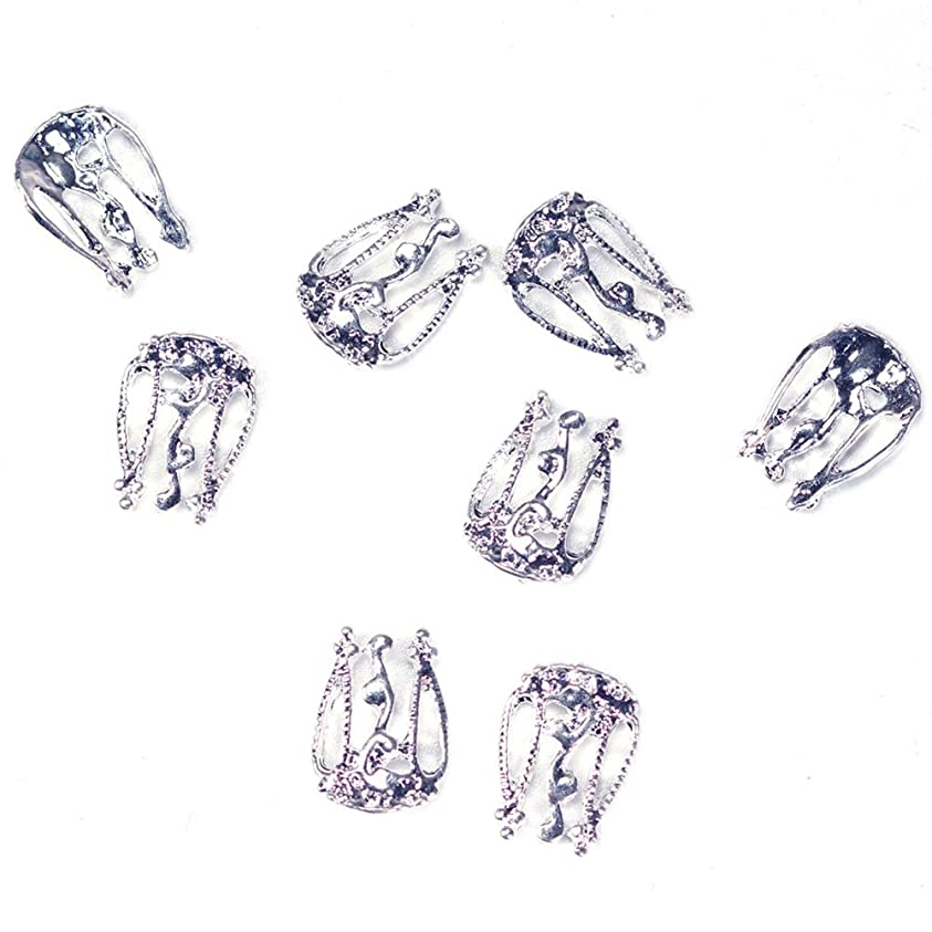 寸法アサート薄いDigakdog レトロ ネイルドリル ネイルアートパーツ 金银 透かし彫りの爪 飾り ネイルデザイン おしゃれ ホログラム 素材 手芸