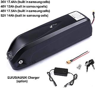 Bike Lithium-Ion 36/V 10/Ah Panasonic cellules Batterie de rechange avec chargeur Noir r4y Pedelec Porte-bagages Batterie /électronique