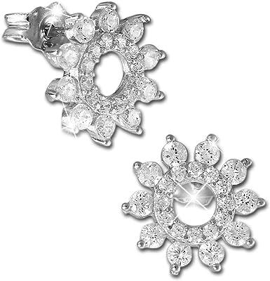 SilberDream GSO468W - Orecchini da donna in argento 925 con zirconi, colore: Bianco