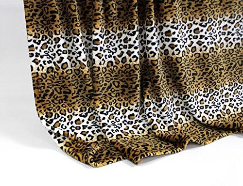 Feinste Mikrofaserdecke Kuscheldecke Tagesdecke, extra dick mit Silk/Cashmere Touch, ca. 150 x 200 cm, Leopard