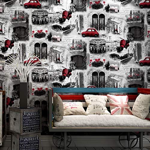Papel Pintado Contraste Escena de la Calle Material PVC Fondo de Pantalla Fondo de París el Color Vivo de Habitaciones Restaurante Tienda de Ropa del Papel Pintado Fine Decor Wallcoverings
