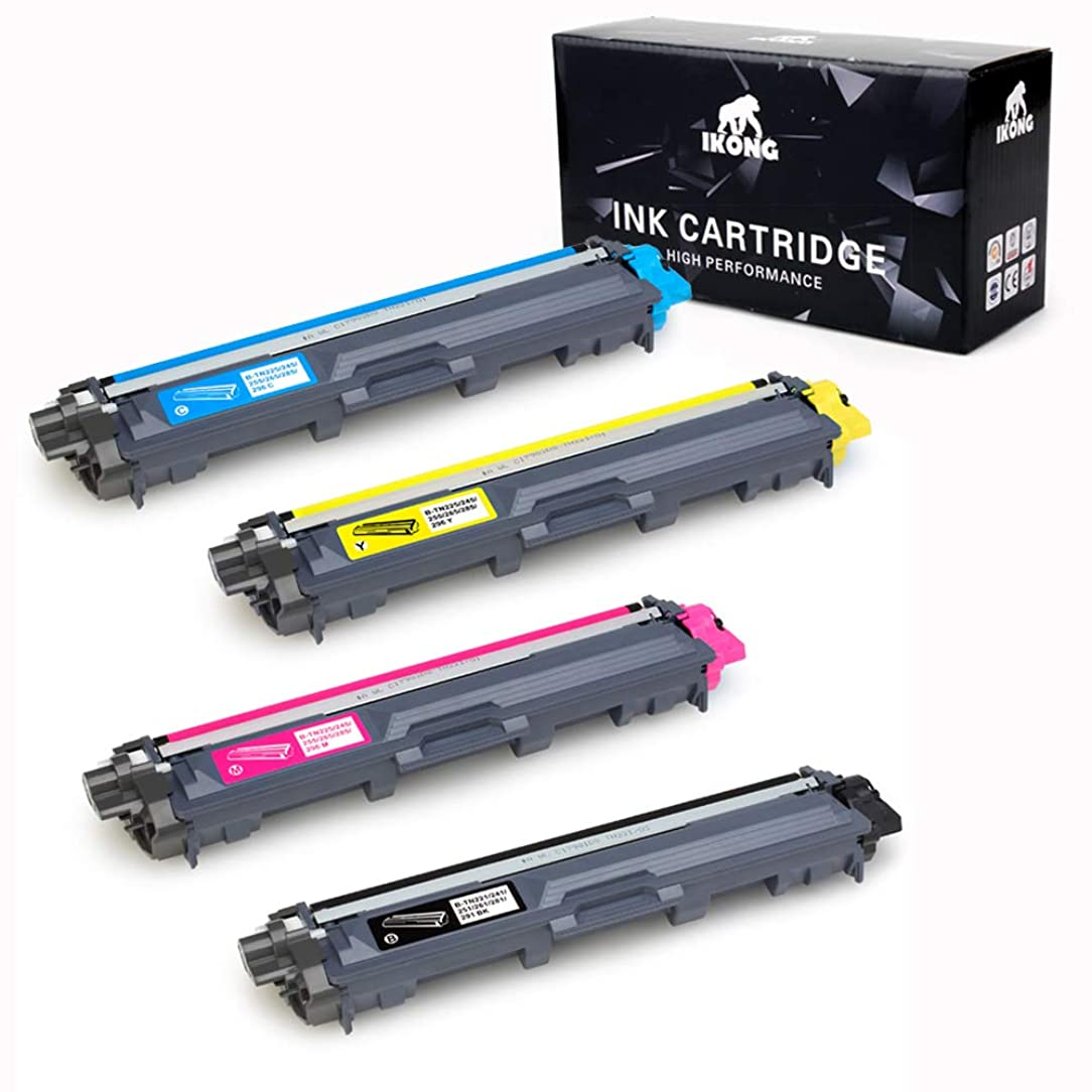 IKONG tn-221 Compatible Toner Cartridge Replacement for Brother TN221 TN225 Toner Works with Brother HL-3170CDW MFC-9130CW MFC-9330CDW HL-3140CW MFC-9340CDW HL-3180CDW HL-3150CDN DCP-9020CDN