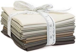 Bella Solids Taupes 12 Fat Quarters Moda Fabrics 9900AB 121