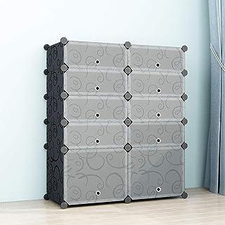 comprar comparacion SIMPDIY Zapatero Cubos, 2x5 Cubos Almacenamiento zapateros Modular, Unidad Gran Capacidad de organizadores Zapatos con Doo...