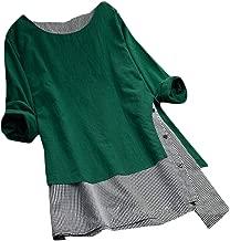 فستان WSPLYSPJY حريمي من الكتان الناعم من قطعة واحدة مصنوع من قطن كتاني ناعم لفصل الربيع والصيف