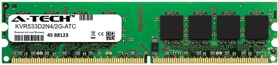 A-Tech 2GB Replacement for Kingston KVR533D2N4/2G - DDR2 533MHz PC2-4200 Non ECC DIMM 1.8v - Single Desktop & Workstation Memory Ram Stick (KVR533D2N4/2G-ATC)