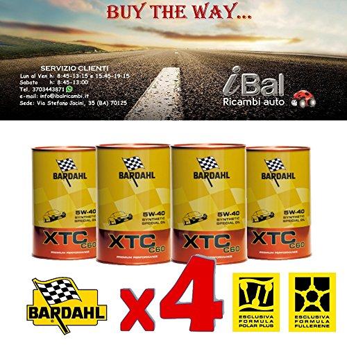OLIO MOTORE XTC C60 5W-40 BARDAHL 4LT TAGLIANDO AUTO - 334040